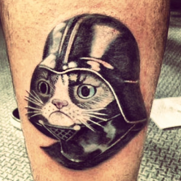 Jason Cuadrado 187 Two Of My Favorite Things In One Tattoo Grumpycat And Darthvader No Sadly